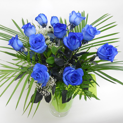 12 Roses Bleues