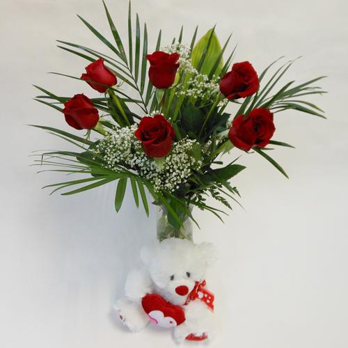 6 Roses et L'Ourson