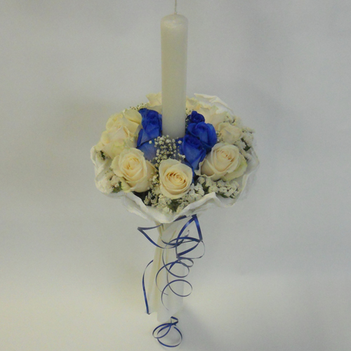 Chandelle bleue